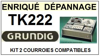 GRUNDIG-TK222-COURROIES-ET-KITS-COURROIES-COMPATIBLES
