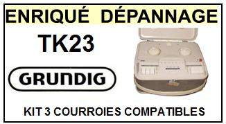 GRUNDIG-TK23-COURROIES-ET-KITS-COURROIES-COMPATIBLES