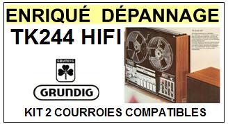 GRUNDIG-TK244 HIFI-COURROIES-ET-KITS-COURROIES-COMPATIBLES