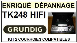 GRUNDIG-TK248HIFI TK248 HIFI-COURROIES-ET-KITS-COURROIES-COMPATIBLES