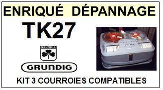 GRUNDIG-TK27-COURROIES-ET-KITS-COURROIES-COMPATIBLES