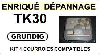 GRUNDIG-TK30-COURROIES-ET-KITS-COURROIES-COMPATIBLES