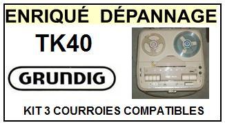 GRUNDIG-TK40-COURROIES-ET-KITS-COURROIES-COMPATIBLES