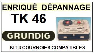 GRUNDIG-TK46-COURROIES-ET-KITS-COURROIES-COMPATIBLES
