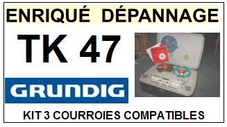 GRUNDIG-TK47-COURROIES-ET-KITS-COURROIES-COMPATIBLES