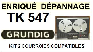 GRUNDIG-TK547-COURROIES-ET-KITS-COURROIES-COMPATIBLES