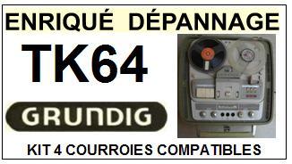GRUNDIG-TK64-COURROIES-ET-KITS-COURROIES-COMPATIBLES