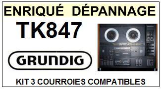 GRUNDIG-TK847-COURROIES-ET-KITS-COURROIES-COMPATIBLES