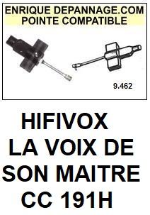 HIFIVOX LA VOIX DE SON MAITRE-CC191H-POINTES-DE-LECTURE-DIAMANTS-SAPHIRS-COMPATIBLES