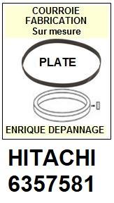 HITACHI 6357581  <br>courroie plate référence hitachi (<B>flat belt manufacturer number</B>)<small> 2017 NOVEMBRE</small>