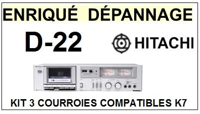 HITACHI-D22 D-22-COURROIES-ET-KITS-COURROIES-COMPATIBLES