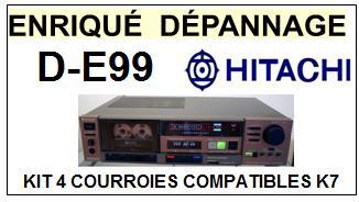 HITACHI DE99 D-E99 <br>kit 4 courroies pour platine K7 (<b>set belts</b>)<small> 2016-01</small>