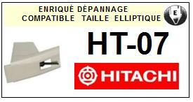 HITACHI<br> HT07 HT-07 Pointe (stylus) elliptique pour tourne-disques <BR><small>sce 2015-07</small>