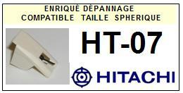 HITACHI<br> HT07 HT-07 Pointe (stylus) sphérique pour tourne-disques <BR><small>sce 2015-07</small>