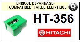 HITACHI<br> HT356 HT-356 Pointe (stylus) elliptique pour tourne-disques<small> 2015-09</small>