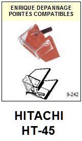 HITACHI<br> HT45 HT-45 Pointe (stylus) sphérique pour tourne-disques<small> 2015-09</small>