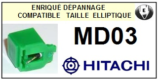 HITACHI MD03  <bR>Pointe diamant elliptique pour tourne-disques (stylus)<SMALL> 2016-01</small>