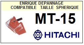 HITACHI<br> MT15 MT-15 Pointe (stylus) Diamant sphérique<small> 2015-10</small>