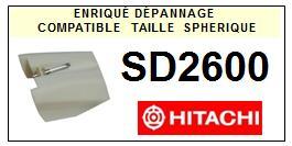 HITACHI<br> SD2600 Pointe (stylus) sphérique pour tourne-disques<small> 2015-09</small>