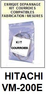 HITACHI VM200E VM-200E <br>kit 3 courroies pour caméscope (<b>set belts</b>)<small> 2018 AVRIL</small>