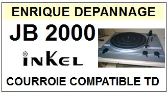 INKEL JB2000  <br>Courroie plate d'entrainement tourne-disques (<b>flat belt</b>)<small> 2017 NOVEMBRE</small>