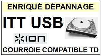 ION ITTUSB <br>courroie plate pour tourne-disques (<b>flat belt</b>)<small> 2016-01</small>