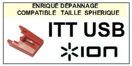 ION ITTUSB <br>Pointe sphérique pour tourne-disques (<b>sphérical stylus</b>)<small> 2016-01</small>