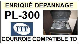 ITT PL300 PL-300 <br>Courroie d\'entrainement pour tourne-disques (<b>flat belt</b>)<small> 2016-01</small>