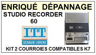 ITT SCHAUB LORENZ-STUDIO RECORDER 60-COURROIES-ET-KITS-COURROIES-COMPATIBLES