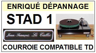 JEAN FRANCOIS LE TALLEC  STAD1 STAD-1 <br>Courroie d\'entrainement pour Tourne-disques (<b>round belt</b>)<small> 2016-01</small>