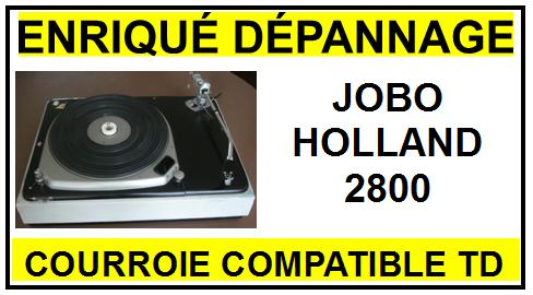 JOBO HOLLAND 2800 courroie compatible TOURNE-DISQUES CONTINENTAL JOBO HOLLAND