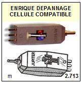 JUPITER  120  JUKEBOX  Cellule DOUBLE d\' ORIGINE avec diamant ( G /D )