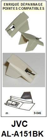 JVC Platine ALA151BK AL-A151BK Pointe diamant sphérique <BR><small>sce 2014-01</small>