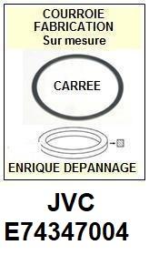 JVC E74347004  <BR>Courroie carrée référence jvc (<B>square belt</B> manufacturer number)<small> 2017 OCTOBRE</small>