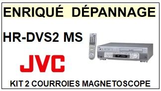 JVC  HRDVS2MS  HR-DVS2MS  kit 2 Courroies Compatibles Magnétoscope