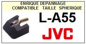 JVC<br> LA55. L-A55 (2° montage) Pointe  (stylus) sphérique pour tourne-disques <small> 2015-09</small>