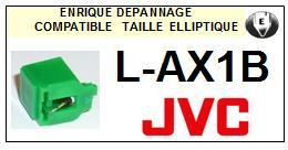 JVC<br> LAX1B L-AX1B Pointe (stylus) elliptique pour tourne-disques <BR><small>sce 2015-08</small>