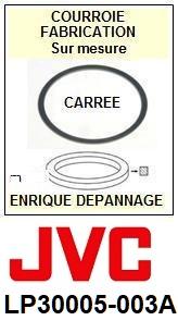 JVC LP30005003A LP30005-003A <BR>Courroie référence jvc (square belt manufacturer number)<small> 2015-11</small>