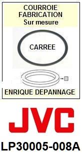 JVC LP30005008A LP30005-008A <BR>Courroie référence jvc (square belt manufacturer number)<small> 2015-11</small>