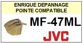 JVC<br> MF47ML MF-47ML Pointe (stylus) diamant sphérique <BR><small>sc 2015-08</small>