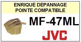 JVC<br> MF47ML MF-47ML Pointe (stylus) diamant sphérique <BR><small>sc 2015-08</small>