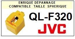 JVC QLF320 QL-F320 <br>Pointe sphérique pour tourne-disques (<B>sphérical stylus</b>)<SMALL> 2018 MARS</SMALL>