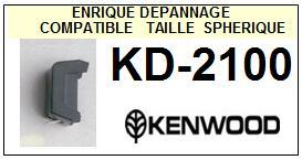 KENWOOD  KD2100 KD-2100 <br>Pointe diamant sphérique pour tourne-disques (stylus)<small> 2015-10</small>
