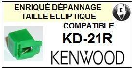 KENWOOD KD21R KD-21R <bR>Pointe diamant elliptique pour tourne-disques (stylus)<SMALL> 2015-11</small>