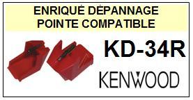 KENWOOD<br> KD34R KD-34R Pointe (stylus) sphérique pour tourne-disques><small> 2015-10</small>