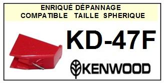 KENWOOD KD47F KD-47F <br>Pointe diamant sphérique pour tourne-disques (stylus)<SMALL> 2015-10</SMALL>