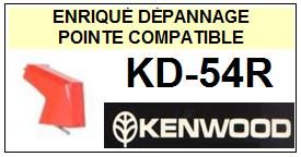 KENWOOD KD54R KD-54R <br>Pointe diamant sphérique pour tourne-disques (stylus)<small> 2015-10</small>