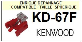 KENWOOD  KD67F KD-67F <br>Pointe diamant sphérique (stylus)<small> 2015-12</small>