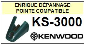 KENWOOD <br>Platine KS3000 KS-3000 Pointe (stylus) diamant sphérique<small> 2015-09</small>