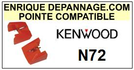 KENWOOD<br> N72 N-72 Pointe (stylus) Diamant sphérique <a 2015-09</small>